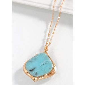 ✨COMING SOON!✨NEW! CHIC AMAZONITE STONE NECKLACE